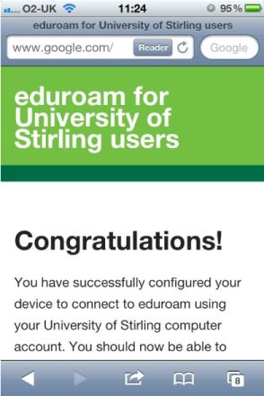 eduroam successful installation