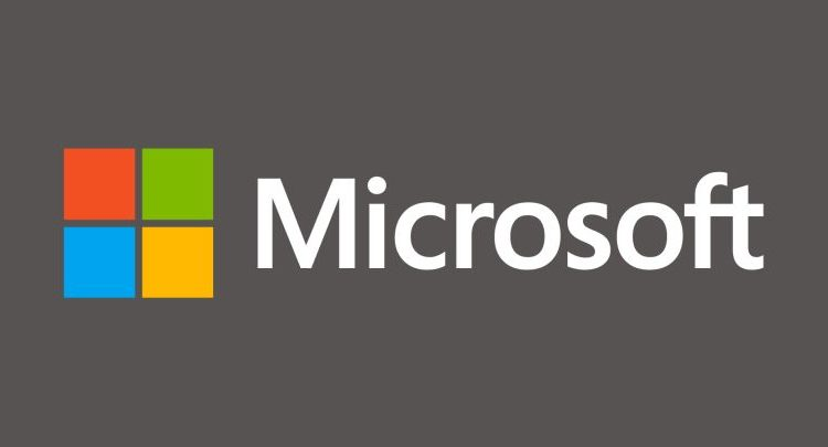 Microsoft logo grey